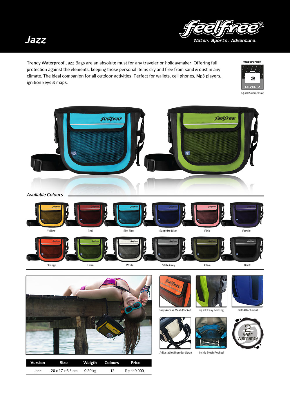 tas slempang waterproof feelfree jazz katalog tas kamera. Black Bedroom Furniture Sets. Home Design Ideas