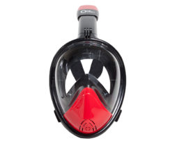 One-Ocean-Full-face-snorkeling-mask-black-red---front-1